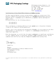 PPG2004FDA test